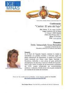 Conferencia: Cartier, el arte del lujo