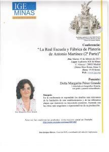 Conferencia: La Real Escuela y Fábrica de Platería de Antonio Martinez (2ª parte)