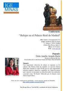 Conferencia: Relojes en el Palacio Real de Madrid