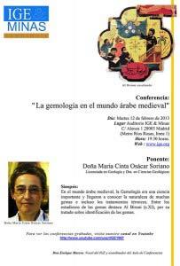 Conferencia: La gemología en el mundo árabe medieval