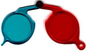 Gafas anaglíficas para observación de estereo fotogafías.